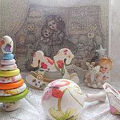 """Для дома и интерьера ручной работы. Ярмарка Мастеров - ручная работа """"мы ждем тебя, малыш """" игрушки - погремушки. Handmade."""