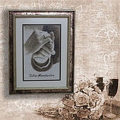 Для дома и интерьера handmade. Livemaster - original item Cross stitch Metric wedding. Handmade.