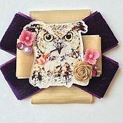 Украшения handmade. Livemaster - original item Brooch order of the Owl with a pipe. Handmade.