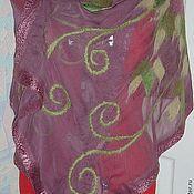 Аксессуары handmade. Livemaster - original item Stole made of silk Peonies. Handmade.