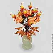 Цветы и флористика handmade. Livemaster - original item Flowers in a vase opal onyx. Handmade.