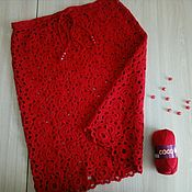 Одежда ручной работы. Ярмарка Мастеров - ручная работа Кровавая Мери-юбка в технике ленточного кружева. Handmade.
