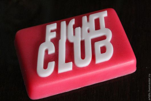 """Мыло ручной работы. Ярмарка Мастеров - ручная работа. Купить Мыло """"Fight Club"""". Handmade. Ярко-красный, мужское мыло"""