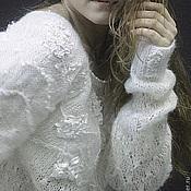 """Одежда ручной работы. Ярмарка Мастеров - ручная работа пуловер """"Белая Нежность"""". Handmade."""