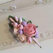 Свадебный салон ручной работы. Ярмарка Мастеров - ручная работа Бутоньерках свадебная нежная из полимерной глины. Handmade.