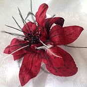 Украшения ручной работы. Ярмарка Мастеров - ручная работа Пурпурный цветок. Handmade.