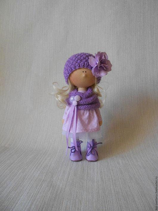 Коллекционные куклы ручной работы. Ярмарка Мастеров - ручная работа. Купить Кукла интерьерная. Handmade. Бледно-сиреневый, интерьерная кукла
