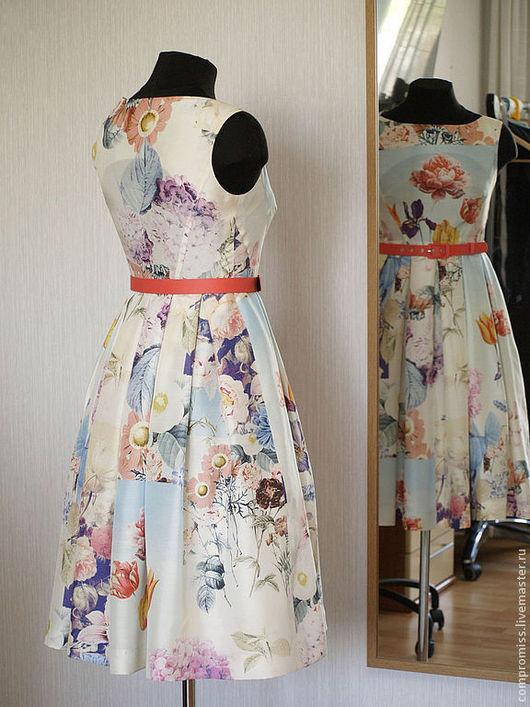 Платья ручной работы. Ярмарка Мастеров - ручная работа. Купить Платье из шёлка. Handmade. Платье, платье коктейльное, цветочный принт