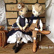 Куклы и игрушки ручной работы. Ярмарка Мастеров - ручная работа Кошки-куклы БОХиня и Стиляга.. Handmade.