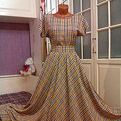 Одежда ручной работы. Ярмарка Мастеров - ручная работа Штапельное платье в пол расцветки Берберри 2. Handmade.