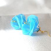 """Украшения ручной работы. Ярмарка Мастеров - ручная работа Серьги """"Полевой цветок"""" золото. Handmade."""