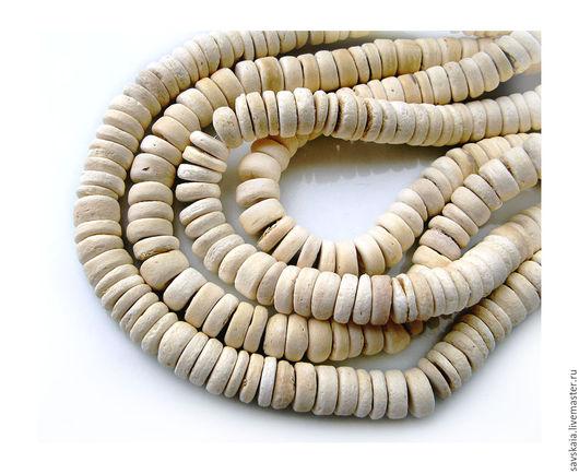 Бусины из кокосовой койри, 8 мм, натуральный цвет, 100 шт