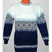 Одежда handmade. Livemaster - original item Men`s sweater with a Norwegian ornament. Handmade.