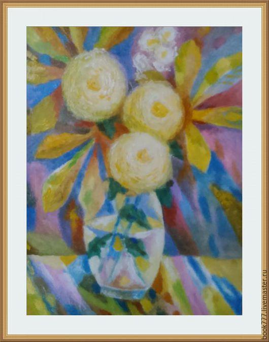 Картины цветов ручной работы. Ярмарка Мастеров - ручная работа. Купить Осенний букет, он особого цвета. Handmade. Лимонный