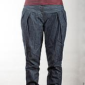 Одежда ручной работы. Ярмарка Мастеров - ручная работа Брюки из джинсовой ткани на кокетке.. Handmade.