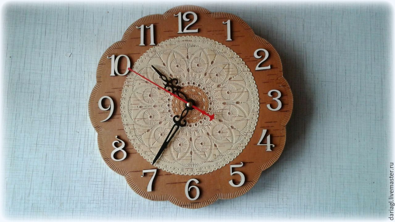 Birch bark clock for home wall russian gift shop online on clocks for home handmade livemaster handmade buy birch bark clock for home wall amipublicfo Images