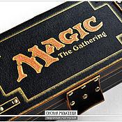 Для дома и интерьера ручной работы. Ярмарка Мастеров - ручная работа Шкатулка для карт MAGIC the gathering (золото). Handmade.