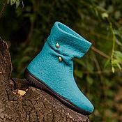 """Обувь ручной работы. Ярмарка Мастеров - ручная работа Сапожки валяные """"Лёгкие шаги"""". Handmade."""