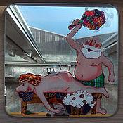 Картины и панно ручной работы. Ярмарка Мастеров - ручная работа Табличка на дверь бани. Handmade.