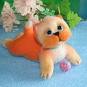 Куклы и игрушки ручной работы. Ярмарка Мастеров - ручная работа Ой!..Я немного упал!.. (котёнок игрушка). Handmade.