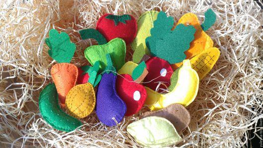 Развивающие игрушки ручной работы. Ярмарка Мастеров - ручная работа. Купить Фрукты и овощи из фетра. Handmade. Комбинированный, свекла, для малышей