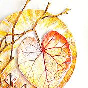 """Для дома и интерьера ручной работы. Ярмарка Мастеров - ручная работа Ключница """"Осеннее солнце"""". Handmade."""
