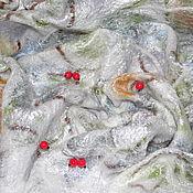 """Аксессуары ручной работы. Ярмарка Мастеров - ручная работа Платок """"Зимние ягоды"""". Handmade."""