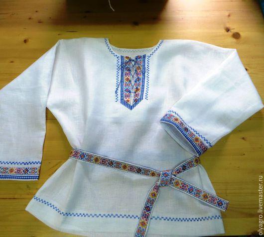 Одежда ручной работы. Ярмарка Мастеров - ручная работа. Купить детская рубаха в русском стиле.. Handmade. Белый, славянский стиль