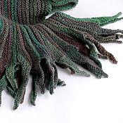 Аксессуары ручной работы. Ярмарка Мастеров - ручная работа Длинный шарф Можжевельник 100% шерсть (зелёный шарф). Handmade.