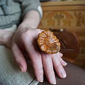 Украшения ручной работы. Ярмарка Мастеров - ручная работа Кольцо из дерева Ромашка. Handmade.
