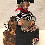 Куклы и игрушки ручной работы. Ярмарка Мастеров - ручная работа Баба - Яга Пиратка. Handmade.