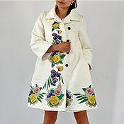 Одежда ручной работы. Ярмарка Мастеров - ручная работа Платье-пальто Цветочная трапеция. Handmade.
