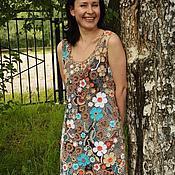 """Одежда ручной работы. Ярмарка Мастеров - ручная работа Кружевное платье """"Самоцветы"""" Ирландское цветное кружево. Handmade."""