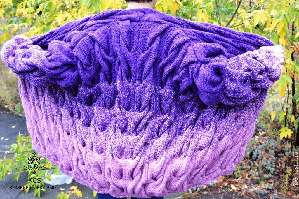 Плавные переходы цветов при вязании