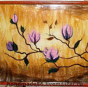 """Картины и панно ручной работы. Ярмарка Мастеров - ручная работа Картина из шерсти """"Магнолии"""". Handmade."""