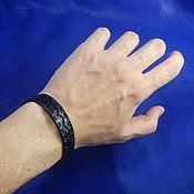 Украшения handmade. Livemaster - original item A leather bracelet Zigzag. Handmade.