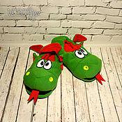 Обувь ручной работы handmade. Livemaster - original item Slippers-toys dragon. Handmade.