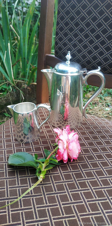 Coffee pot and milk jug. Elkington & Co of Birmingham.1912.Silvering, Vintage kitchen utensils, Belorechensk,  Фото №1