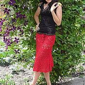 Одежда ручной работы. Ярмарка Мастеров - ручная работа юбка ажурная  Готовая работа р 44-46 есть в наличии. Handmade.