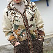 Одежда ручной работы. Ярмарка Мастеров - ручная работа Вязаное пальто W18. Handmade.
