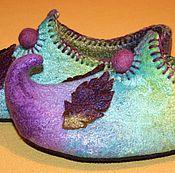 """Обувь ручной работы. Ярмарка Мастеров - ручная работа Валяные тапочки """"Уютные - восточные"""". Handmade."""