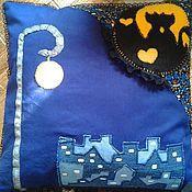Для дома и интерьера ручной работы. Ярмарка Мастеров - ручная работа Лунные коты. Подушка-думка. Handmade.