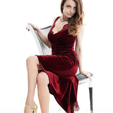 Одежда ручной работы. Ярмарка Мастеров - ручная работа Танго Платье с кружевом. Handmade.