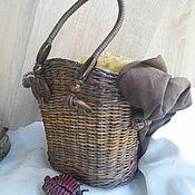 Для дома и интерьера handmade. Livemaster - original item Braided bag chocolate. Handmade.