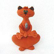 Куклы и игрушки ручной работы. Ярмарка Мастеров - ручная работа Рыжий кот Длиннолап. Handmade.