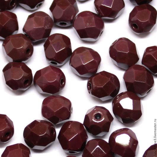 Для украшений ручной работы. Ярмарка Мастеров - ручная работа. Купить 30шт 6мм Чешские граненые бусины Шоколад Fire polished beads. Handmade.