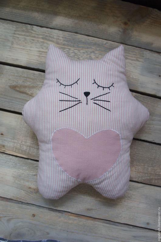 Игрушки животные, ручной работы. Ярмарка Мастеров - ручная работа. Купить Котик сплюшка. Handmade. Серый, кот, хлопок 100%