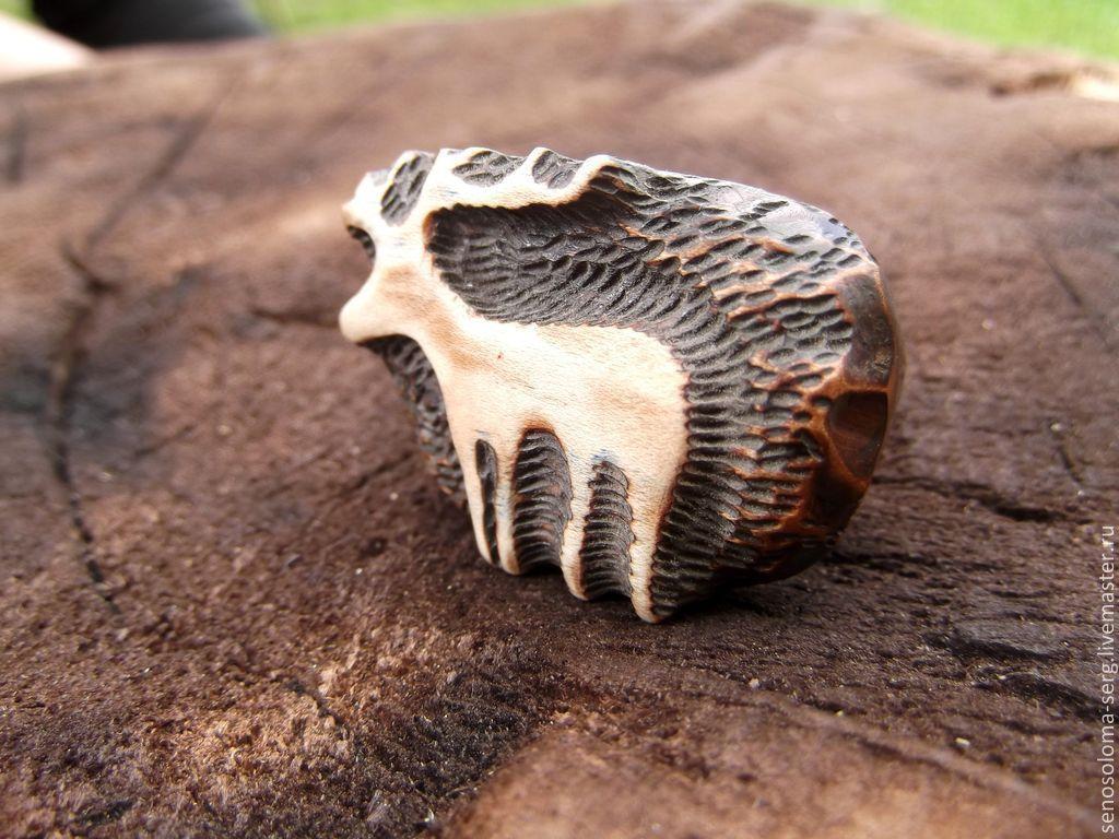 """Кольца ручной работы. Ярмарка Мастеров - ручная работа. Купить Кольцо """"Олень"""". Handmade. Резьба, кольцо из дерева"""