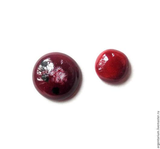 """Для украшений ручной работы. Ярмарка Мастеров - ручная работа. Купить Фарфоровые кабошоны """"Crimson petals"""" ручной работы. Handmade."""