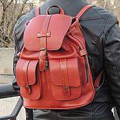 """Сумки и аксессуары ручной работы. Ярмарка Мастеров - ручная работа Рыжий кожаный рюкзак """"Медь"""" (распродажа). Handmade."""